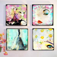 Fashion Wall Art Retro Fashion Art Pop Art Fashion by trolleyla