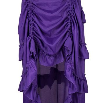 Atomic Purple Victorian Gothic Ruffle Skirt