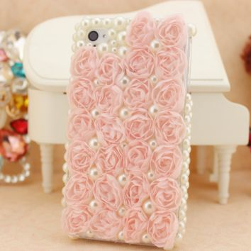 Retro Pearl Lace Floral Case for iPhone