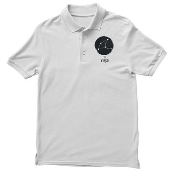 Virgo Zodiac Sign Minimal Design Polo Shirt