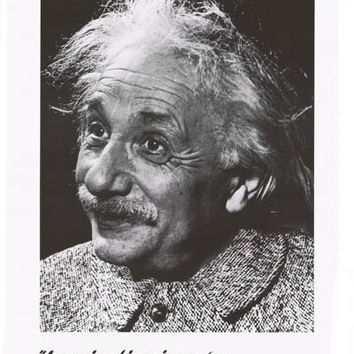Albert Einstein Imagination Quote Poster 24x34