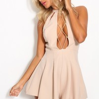 Easy For You To Say Playsuit Beige