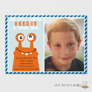 Monster Birthday Invitation - Monsters - Our Little Monster - Monster Party - Printable