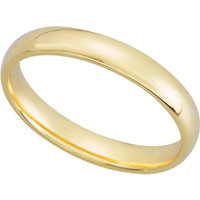 10K Yellow Gold 4mm Comfort Fit Plain Women's Wedding Band (Available Ring Sizes 4-9)