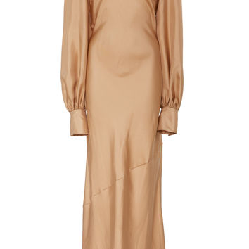 Bias Cut Full Sleeve Dress | Moda Operandi
