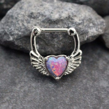 Heart Clicker in Opal Lilac
