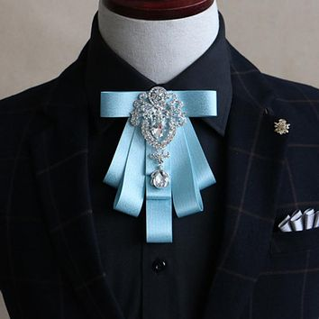 Business Wedding For Mens Collar Bowtie Grooms Bow Ties For Women Gravatas Ribbon Polyester Neckties