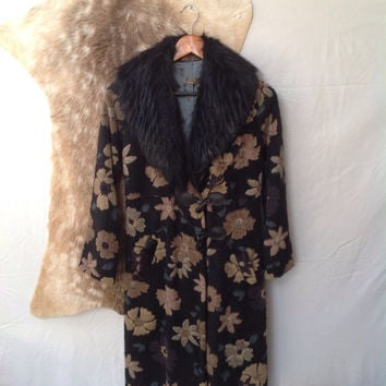Floral Faux Fur Coat!