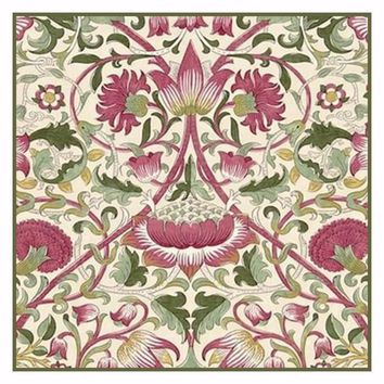 Arts and Crafts Loden Pink Green by William Morris Design Counted Cross Stitch or Counted Needlepoint Pattern