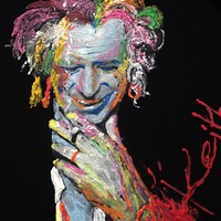 Keith Richards T-shirt NEON Artistic Painted 3d Tshirt