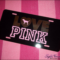 Victoria's Secret LOVE PINK Black Pink and by JaykasTreasureShop