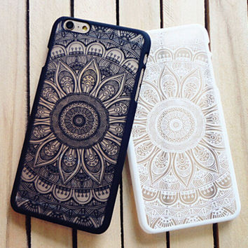 Vintage Lace Floral iPhone 5 5s iPhone 6 6s Plus Case Cover iPhone 7 7Plus Case+ Free Shipping+ Free Gift Box
