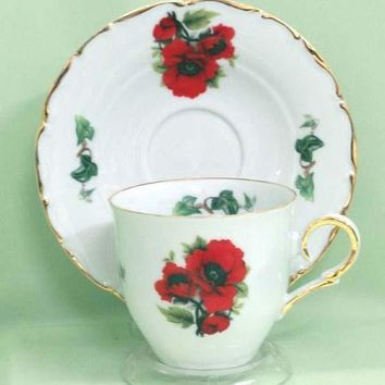 Elise Tea Cups (Teacups) and Saucers Set of 2 Choose from 30 Patterns
