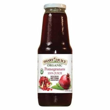 Smart Juice Organic Pomegranate - Case of 6 - 33.8 Fl oz.