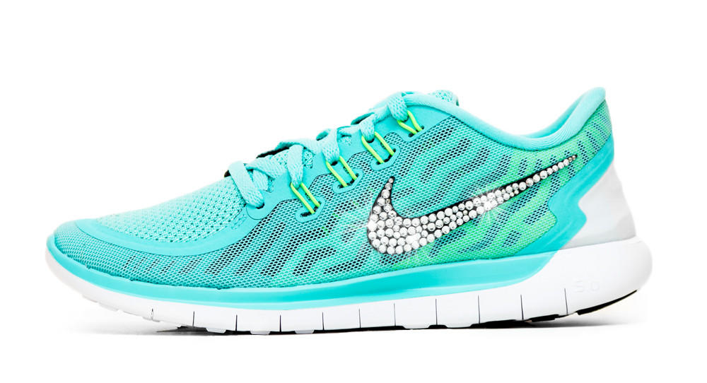 ... buy online c9090 d3290 Nike Free 5.0 - Crystallized Swarovski from  Glitter Kicks ... 6f0d16522