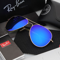 Ray Ban Aviator Sunglasses Blue Flash/Gold Frame RB3025 112/68F 58mm