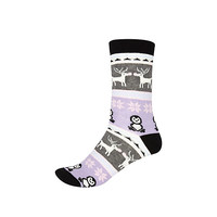 River Island Womens Grey fair isle novelty ankle socks