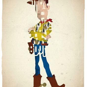 Woody typography print based on a quote from the movie Toy Story Art Print by 17th and Oak