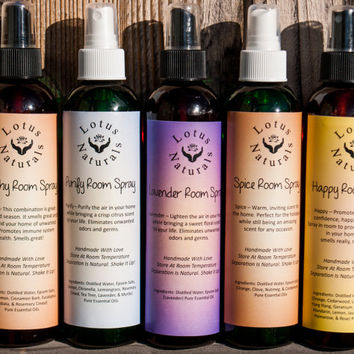 Vegan 100% Natural Essential Oils Lotus Naturals Room Sprays