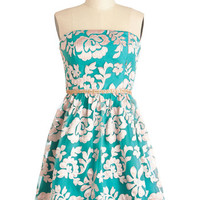 Champagne and Flowers Dress