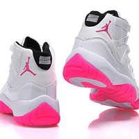Hot Air Jordan 11 Retro Women Shoes White Rose