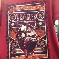 Wrangler Youth Rodeo Red T-Shirt - BQ7539R