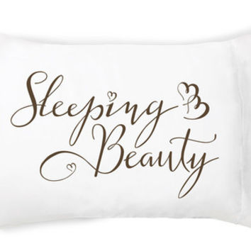 Sleeping Beauty Pillow Case by Faceplant Dreams
