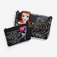 Disney Hot Topic Beauty and the Beast Makeup bag set