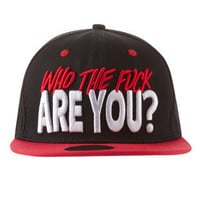 Who The Fuck Are You Snapback , Drop Dead Clothing