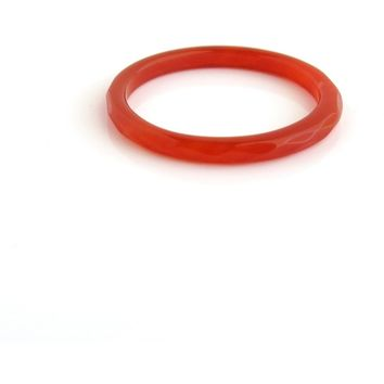 Carnelian Red Agate - Red - Faceted Agate Ring - Bold Ring