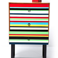 Three Drawer Dresser in Stripe Print - Urban Outfitters