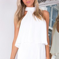 Face To Face playsuit in white