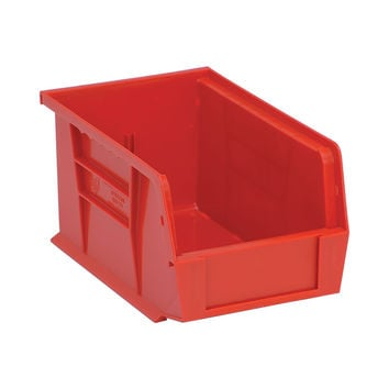 Quantum Storage Systems Ultra Stack And Hang Bin - 9-1/4Lx 6Wx 5H - Red Pack Of 12