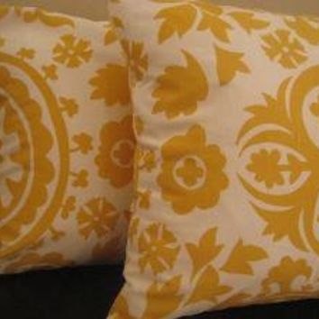Set of two 2 18 inch throw pillow covers  Suzani  by MasonMoonbeam