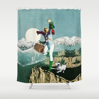 Divination Tarot: Fool Shower Curtain by Eugenia Loli