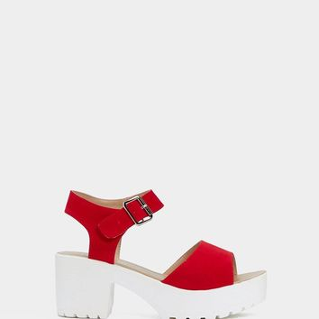 Come Out On Top Faux Suede Sandal