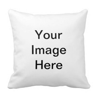 Make Your Own Image Text Decorative Throw Pillows