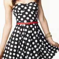 Black & White Polka Dot Lucy Dress