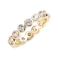 Women's Melanie Auld 'Eternity' Stacking Ring - Gold/ Clear