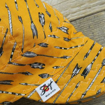 Gold Native American Arrows Size 7 3/8 Cotton Welding Cap