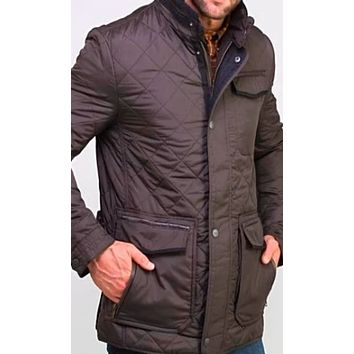 Madison Creek Outfitters Men's Adventurer Nylon Quilted Jacket~ Gunmetal Grey- size XXL