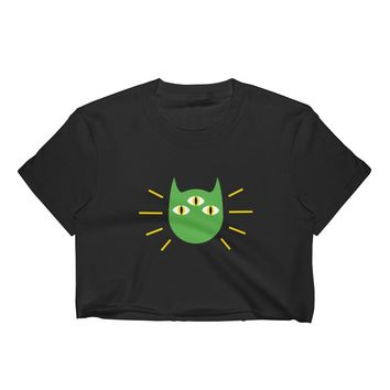 Psychic Alien Kitty Crop Top