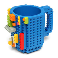 Build-On Brick Mug - Blue