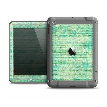 The Grungy Horizontal Green Lines Apple iPad Air LifeProof Fre Case Skin Set