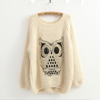 Owl Comfort Ma Haimao Turtleneck Sweater