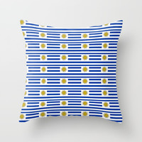 flag of Uruguay-Uruguyan,montevideo,spanish,america,latine,Salto,south america,paysandu,costa,sun Throw Pillow by oldking