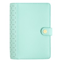 PERFORATED LEATHER PERSONAL PLANNER MEDIUM: MINT
