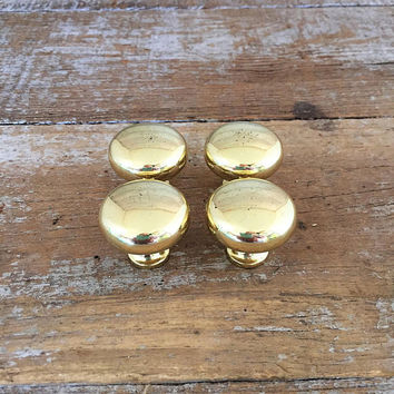 Drawer Knobs 4 Drawer Pulls Brass Knobs Mid Century Hardware Dresser Knobs Kitchen Cabinet Door Knobs Home Improvement Brass Drawer Pulls