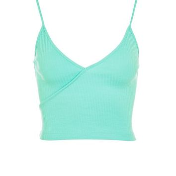 Wrap Front Crop Top - Sale & Offers