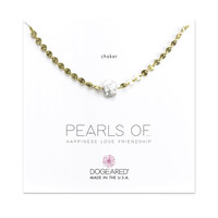 Pearls Of… Keshi Pearl Disc Chain Choker, Gold Dipped | Dogeared